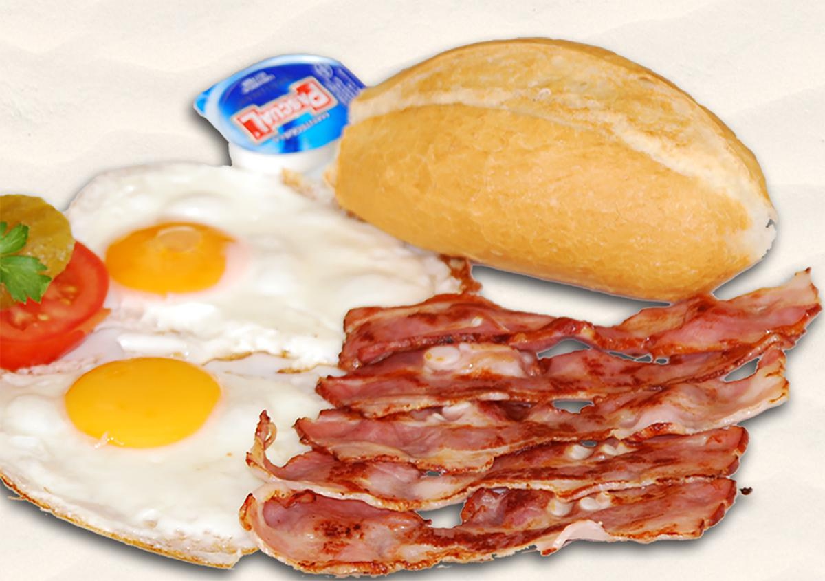 Eier und Bacon