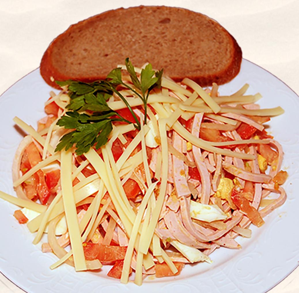 Salat, Wurstsalat, Salad, Ensalada